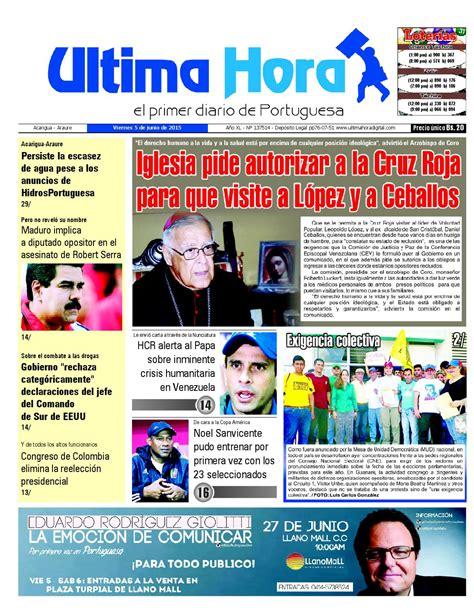 Edicion05 06 2015 by Ultima Hora - El primer diario de ...