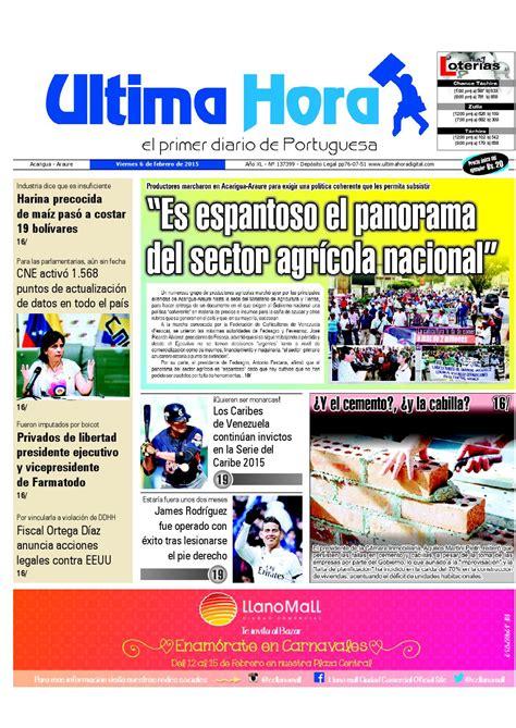 Edicion06 02 2015 by Ultima Hora - El primer diario de ...