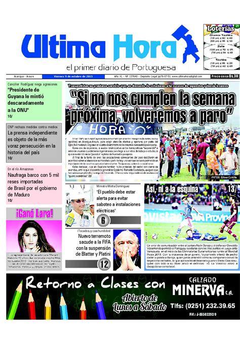 Edicion09 10 2015 by Ultima Hora - El primer diario de ...