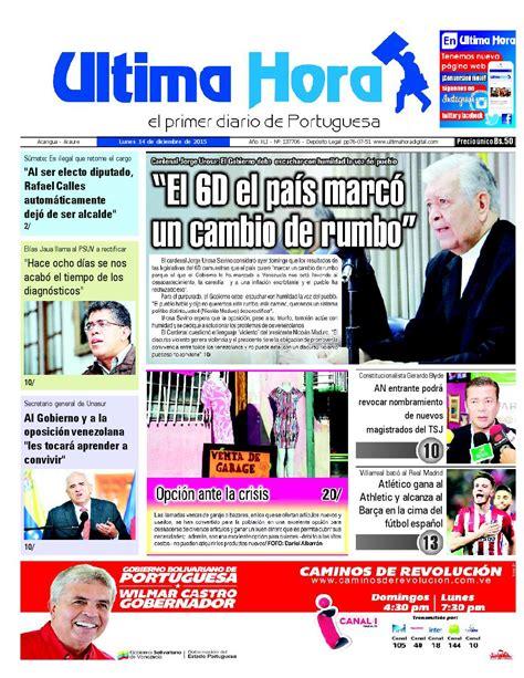 Edicion14 12 2015 by Ultima Hora - El primer diario de ...