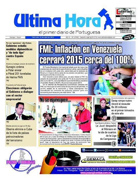 Edicion15 04 2015 by Ultima Hora - El primer diario de ...