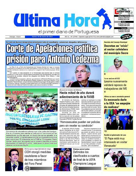 Edicion19 03 2015 by Ultima Hora - El primer diario de ...