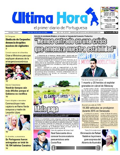 Edicion20 01 2016 by Ultima Hora - El primer diario de ...