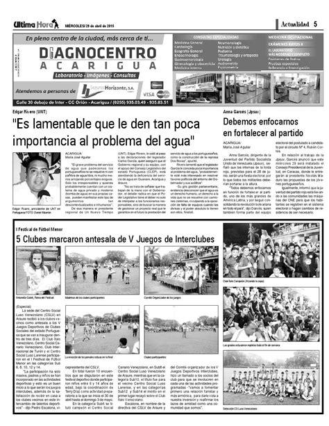 Edicion29 04 2015 by Ultima Hora - El primer diario de ...