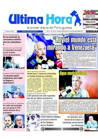 Edicion29 05 2015 by Ultima Hora - El primer diario de ...