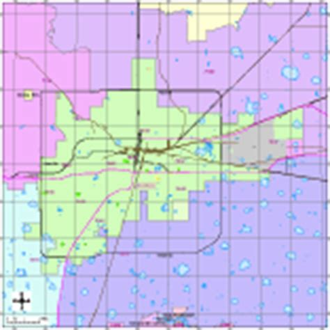 Editable Amarillo, TX City Map with Roads, Highways & Zip ...