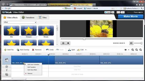 Editor de video gratis y en linea, Pagina web para crear ...