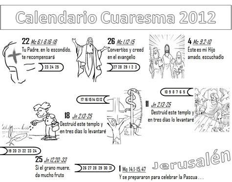 Educar con Jesús: Calendarios para la Cuaresma 2012