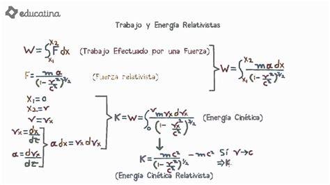 Educatina - Trabajo y Energía Relativistas
