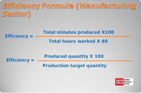 Efficiency Formula: Calculate Operator Efficiency and Line ...
