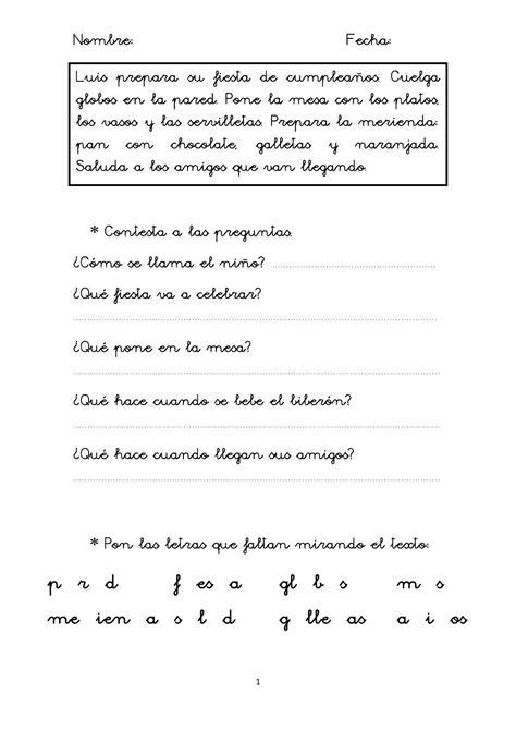 Eficacia lectora 1 Comprensión lectora para Primer Ciclo ...