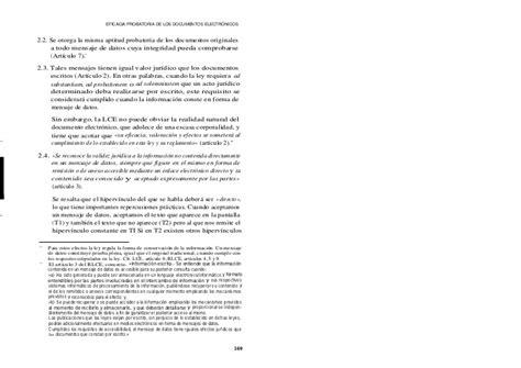 Eficacia probatoria de los documentos electronicos