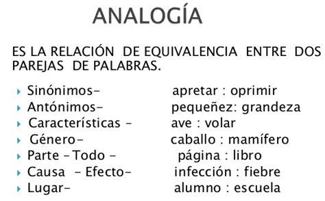 Ejemplo de analogías