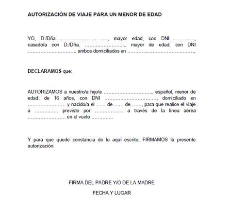 Ejemplo de carta de autorización para viajar | Modelos de ...
