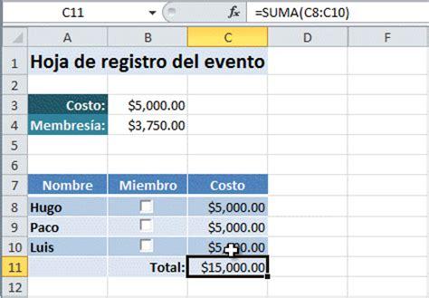 Ejemplo de casilla de verificación en Excel   Excel Total