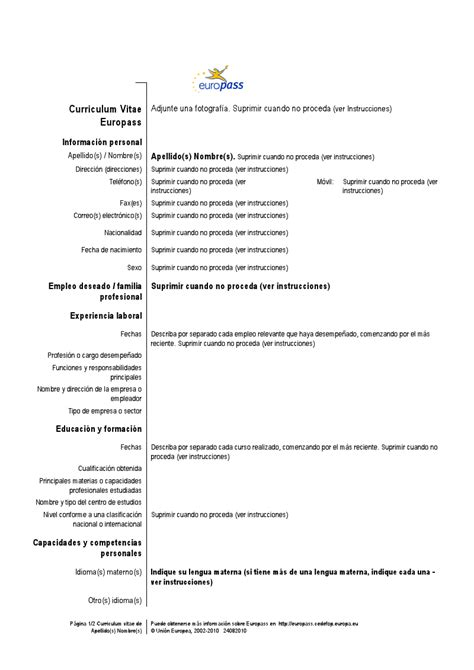 Ejemplo De Curriculum Vitae Profesional | New Calendar ...