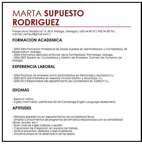 Ejemplo de CV para Estudiantes Internacionales | Muestra ...