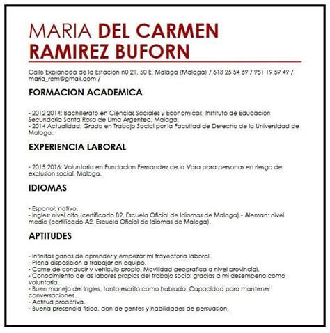Ejemplo de CV para Trabaja a Tiempo Parcial | Muestra ...