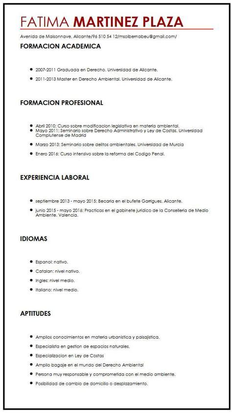 Ejemplo de CV para trabajo a tiempo completo| Muestra ...