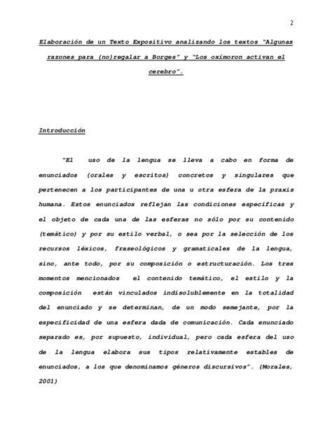 Ejemplo de Elaboración de Texto Expositivo