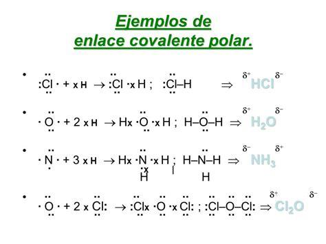 ejemplo de enlace covalente polar enlace qu 205 mico ...