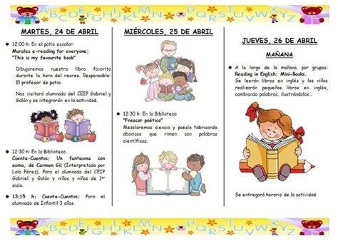 Ejemplo de folleto de programa de actividades de la ...