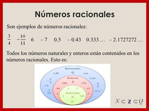 Ejemplo De Numeros Racionales Y Irracionales ...