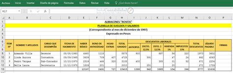 Ejemplo De Planilla De Pago | newhairstylesformen2014.com