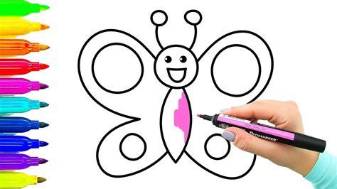 Ejemplo simple Cómo dibujar mariposa Libro para colorear ...