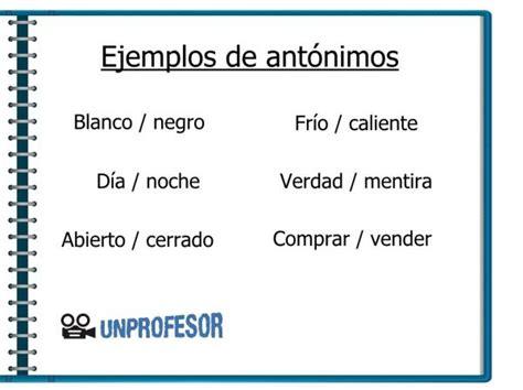 Ejemplos de antónimos