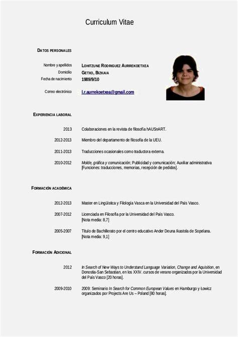 ejemplos de curriculum vitae gratis curriculum vitae ...