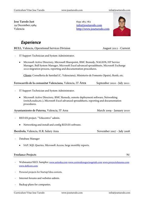 Ejemplos De Resume Para Trabajos | newhairstylesformen2014.com