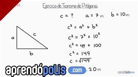 Ejercicio 1 de Teorema de Pitágoras   YouTube