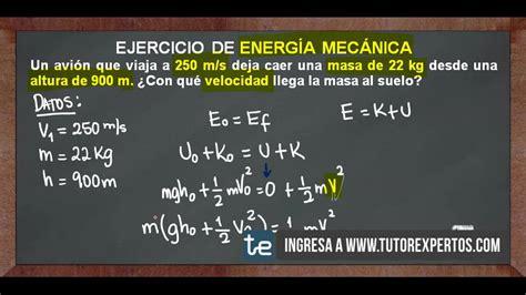 Ejercicio de Energía Mecánica No 2   YouTube