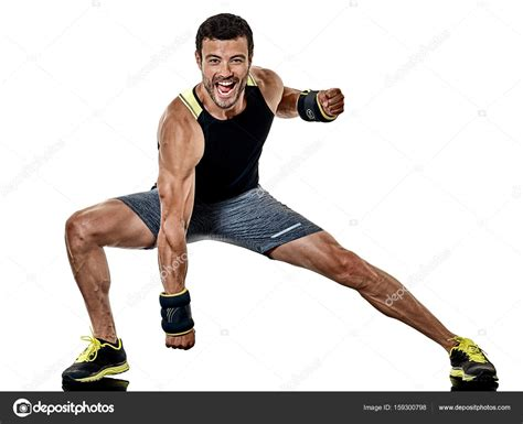 ejercicios de boxeo de cardio fitness hombre aislados ...