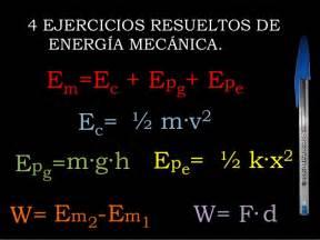Ejercicios de Energía Mecánica resueltos