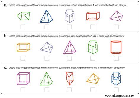 Ejercicios de figuras geométricas para primaria