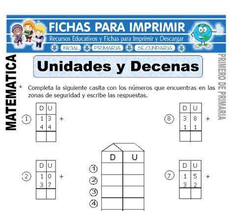 Ejercicios de Unidades y Decenas para Primaria   Fichas ...