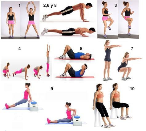 ejercicios en casa   Mundo Fitness