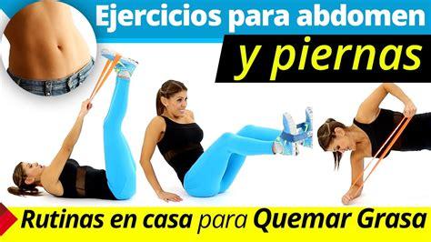 Ejercicios para abdomen y piernas  Rutina de ejercicios en ...