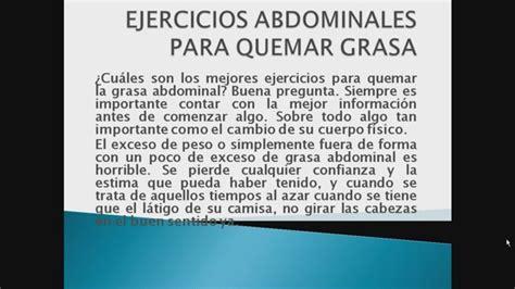 ejercicios para quemar grasa abdominal   Video Search ...