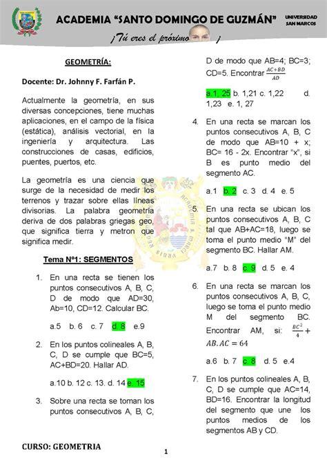 Ejercicios prácticos de geometría - Monografias.com