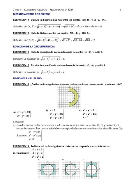 Ejercicios resueltos de geometria