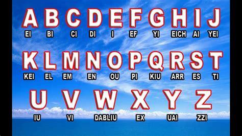 el abecedario en ingles y su pronunciación   YouTube