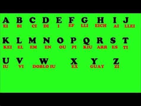 El abesedario en inglish - YouTube