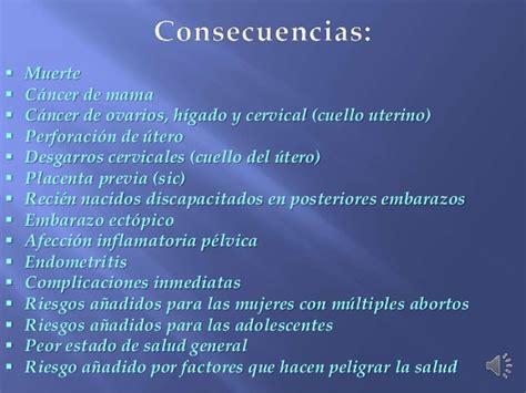 El aborto, causas y consecuencias.