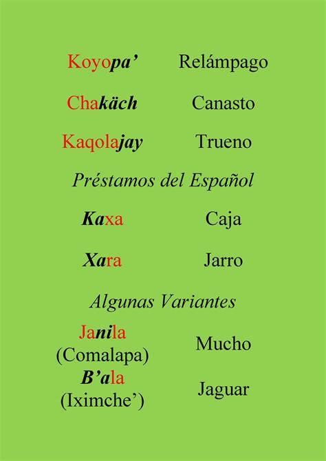 El acento en la palabras del idioma maya Kaqchikel ...