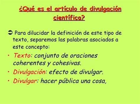 El articulo de divulgacion cientifica