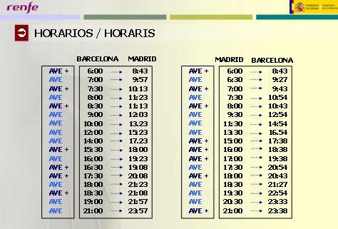 El AVE entre Madrid y Barcelona inicia sus servicios el 20 ...