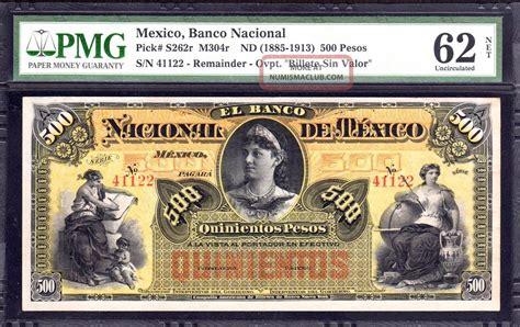 El Banco Nacional De Mexico 500 Pesos Remainder, M304r ...